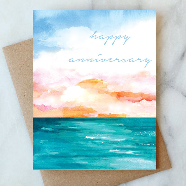Ocean Happy Anniversary Card