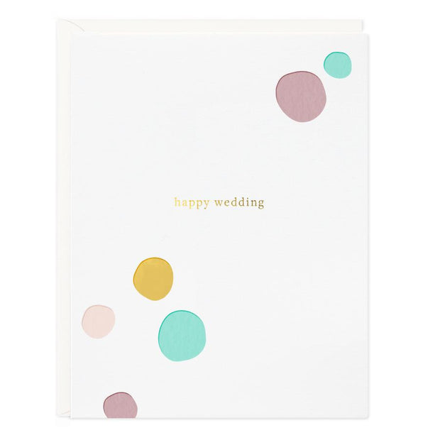 Happy Wedding Confetti Card