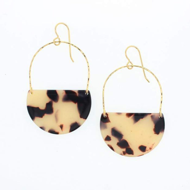 Gold Filled Ramona Tortoise Earrings