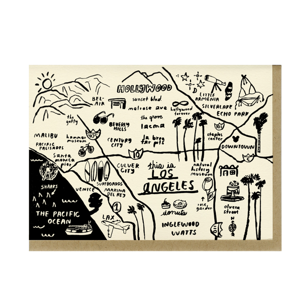 Los Angeles Map Card