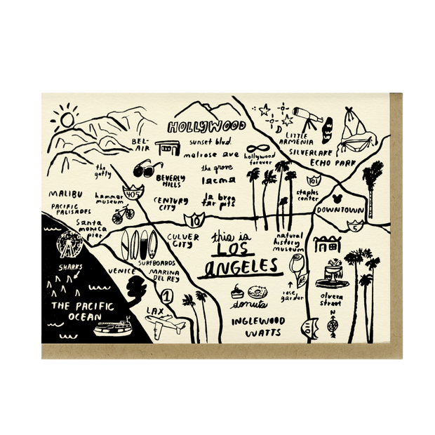 People I've Loved Los Angeles Map Card