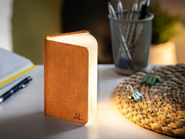 Gingko Small Booklight Orange Linen