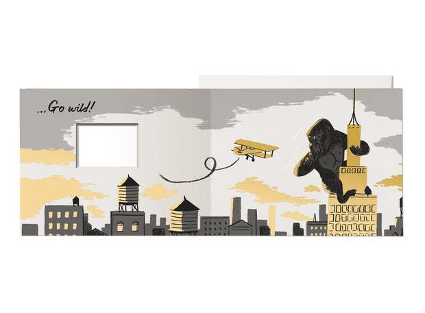 King Kong Bday French Fold Card