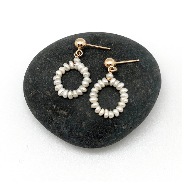 Little Pearl Loop on Post Earring