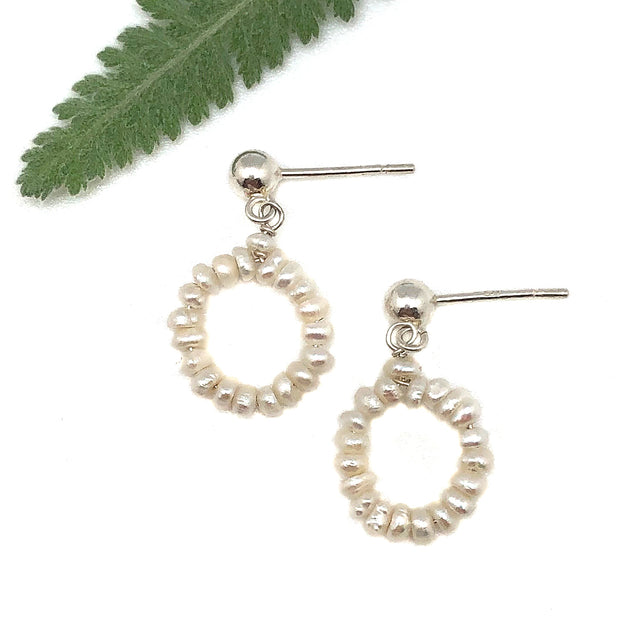 Wasabi Jewelry Little Pearl Loop on Post Earring