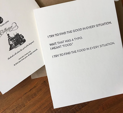Food Typo Card