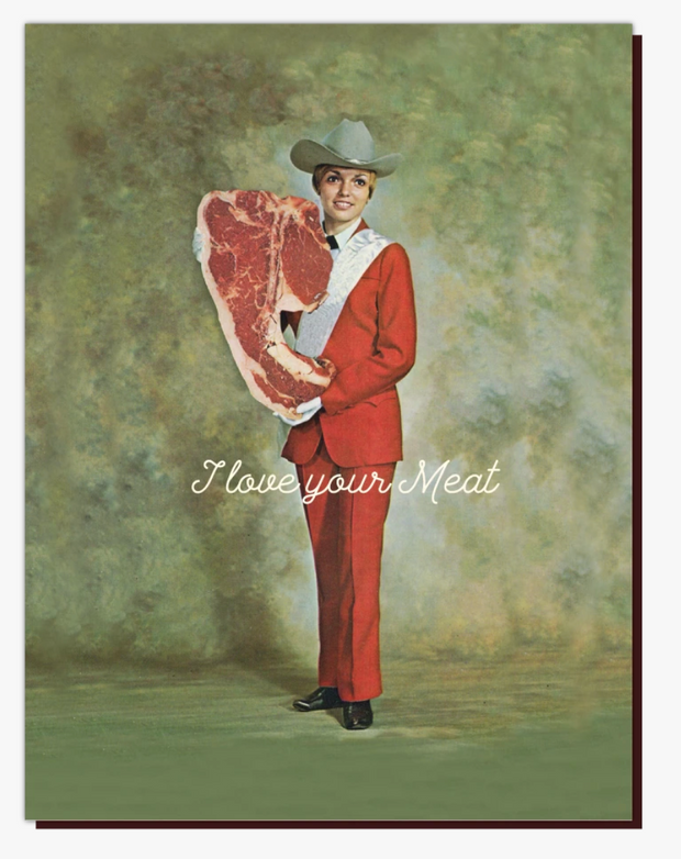 Meat Girl Card