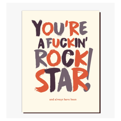 Congrats Rock Star Greeting Card