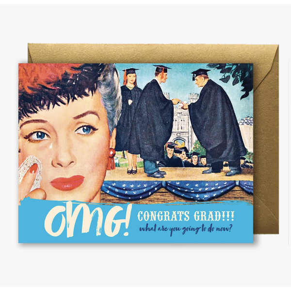 Grad OMG Greeting Card