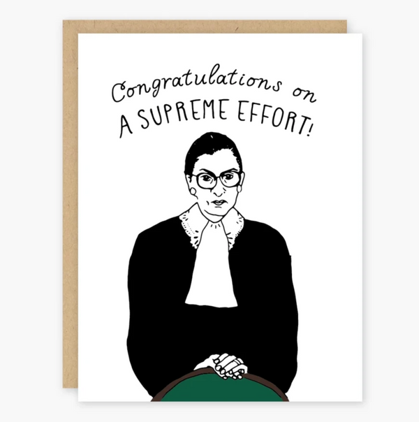 Ruth Bader Congrats Greeting Card