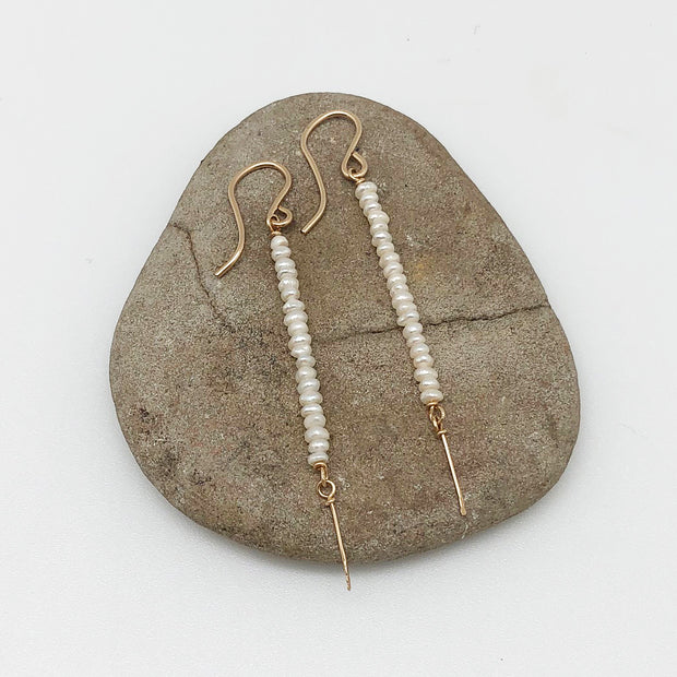 Wasabi Jewelry Little Pearl Stick Earring