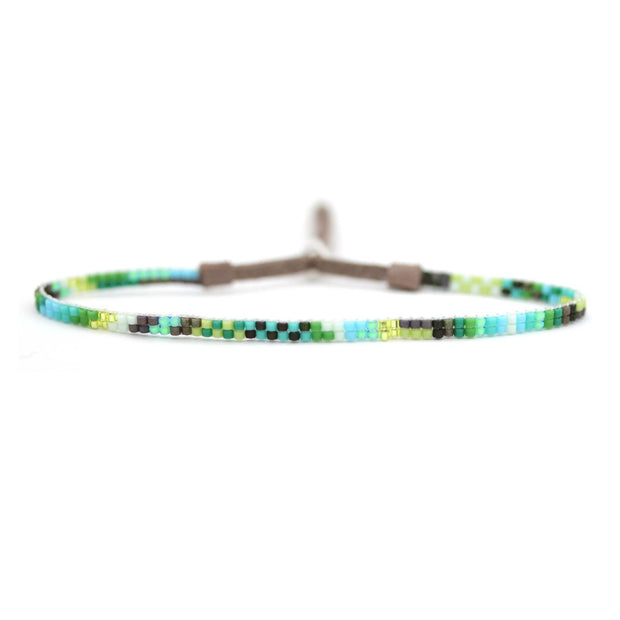 "Julie Rofman 1/8"" Woven Beaded Bracelet- Sur"