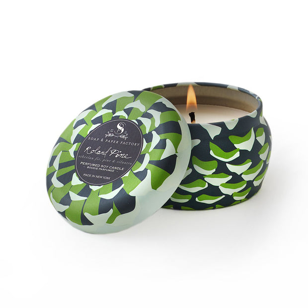 Roland Pine Travel Tin Soy Candle