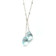 Wasabi Jewelry Lariat Necklace - Sterling Silver w/Stone