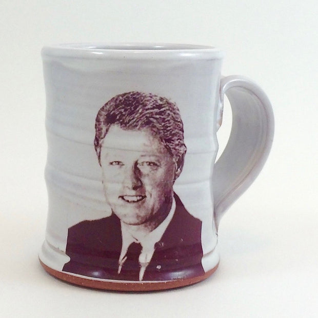 Bill Clinton White Mug