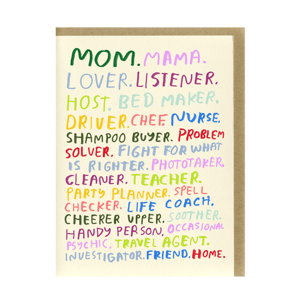 Mom You're All That Card