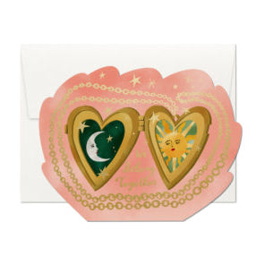 Locket Love Die Cut Foil Card