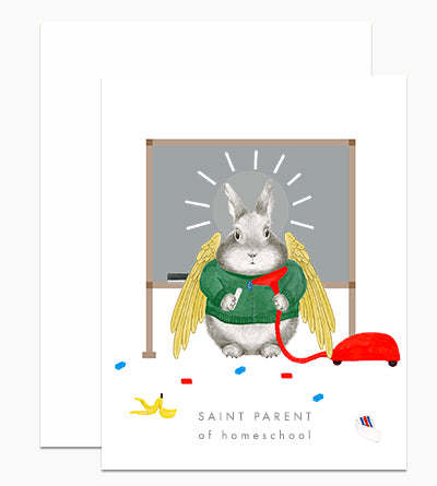 Saint Parent of Homeschool Card