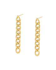 Gigi Gold Plated Chain Earring by Jurate Los Angeles