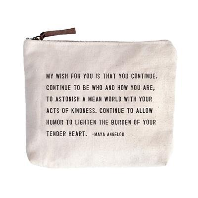 Sugarboo Canvas Pouch- My Wish For You