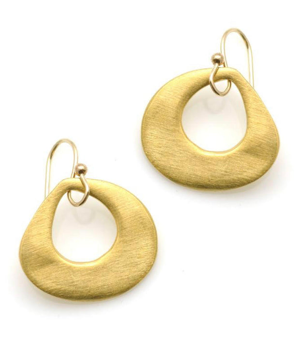 Philippa Roberts Thick Open Drop Earrings Vermeil