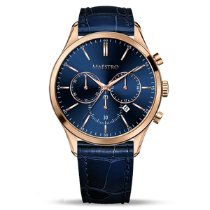 Blue & Rose Gold - The Executive Chrono