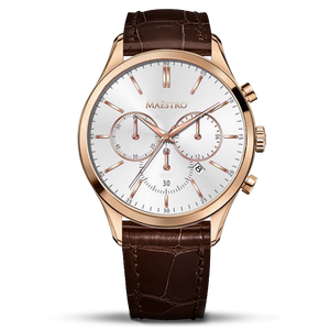 Brown & Rose Gold - The Executive Chrono