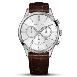 Brown & Silver - The Executive Chrono
