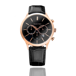 Black & Rose Gold - The Executive Chrono
