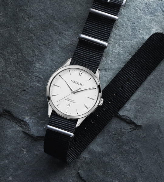 The Classico - Silver w. Nylon