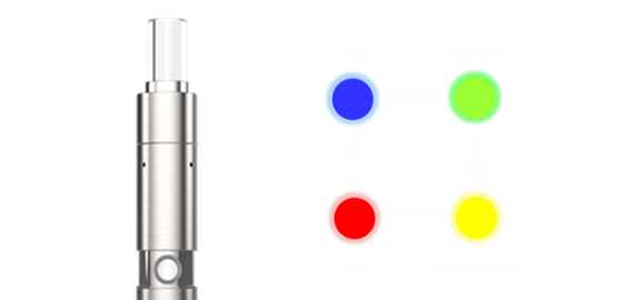 Linx Hypnos Portable Vaporizer: 4 temp settings