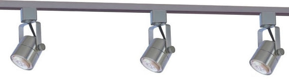 CTL - 3 LED Track Light Complete Kit - 21Watt Adjusting/Swivel - Nickel Satin Finish - Dimmable - 3000K