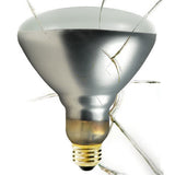 S4885 - Satco - 250 Watts - Incandescent R40 - Shatter Clear Heat - Medium Base - 120V
