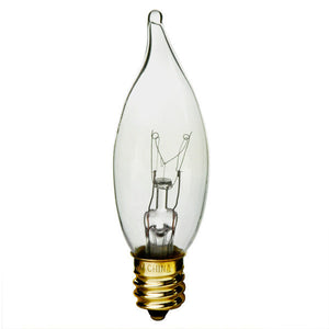 S3275 - 40 watts - CA 9.5 - Clear Candelabra Base - 3000K - 120 Volts - 370 Lumens