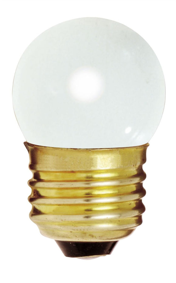 S3607 - 7.5 Watts - Satco -  Gloss White - Incandescent Light Bulb - 290 Lumens - Medium Base - 120V