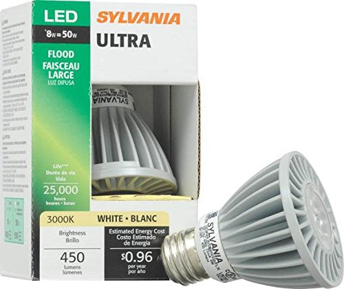 Sylvania Ultra - Par20 - LED Bulb, 8 Watt, 3000k, 450LUMANS - 72571