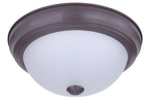 "CTL - 11"" LED - 15 Watt - Stepdown Ceiling Fixture - Bronze - Opal Lens - Ceiling Light - 3000K"
