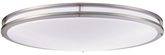 ctl 32 led 35 watt oval saturn ceiling fixture nickel satin