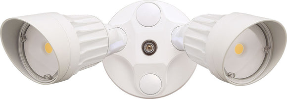 CTL - LED - LF20MH2-WH/WW -  Outdoor Dual Head - 180 Degree Motion Sensor Security Lighting Residential