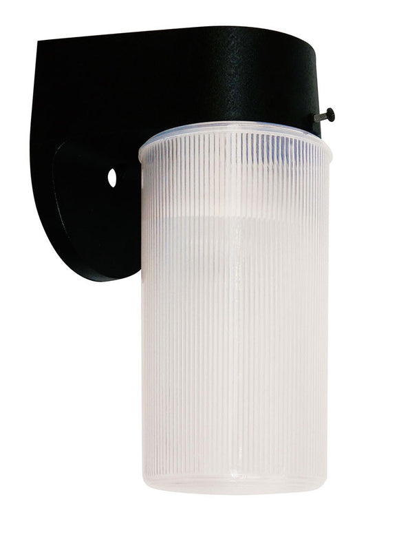 CTL - LED - 11 Watts - GU24 - Wall Light Jelly Jar with Photocell - Warm White - Black Finish - 3000K