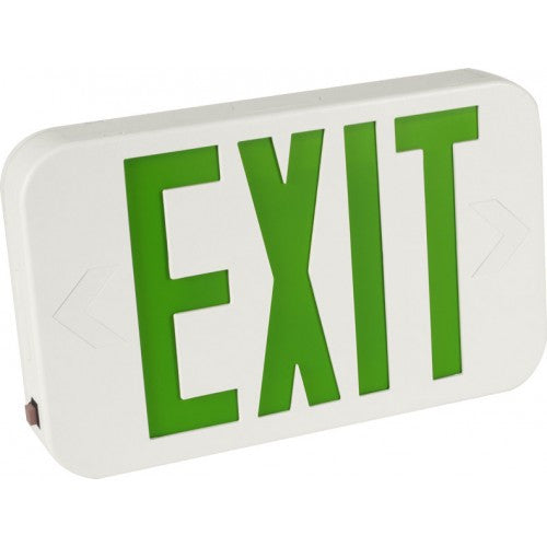Orbit - LED - Micro Thermoplastic - Exit Sign with Battery Back-Up - 120V - UL Listed for Damp Location