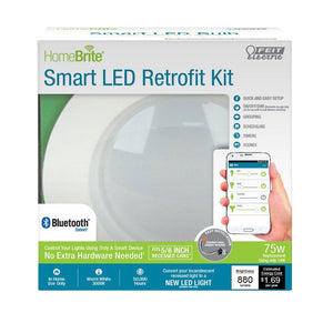 Feit HomeBrite 5/6 in .LED Retrofit Kit - 75W Equ- 3000K -Dimmable - Bluetooth Smart