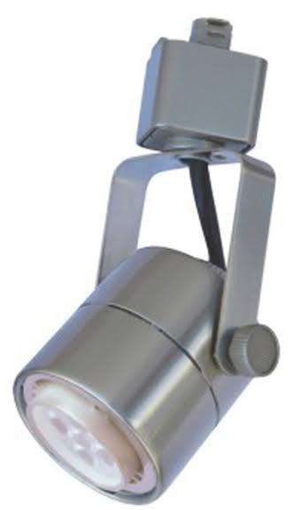 CTL - LED Track Lighting Cylinder Head - 7Watt Adjusting/Swivel - Nickel Satin Finish - Dimmable - 3000K