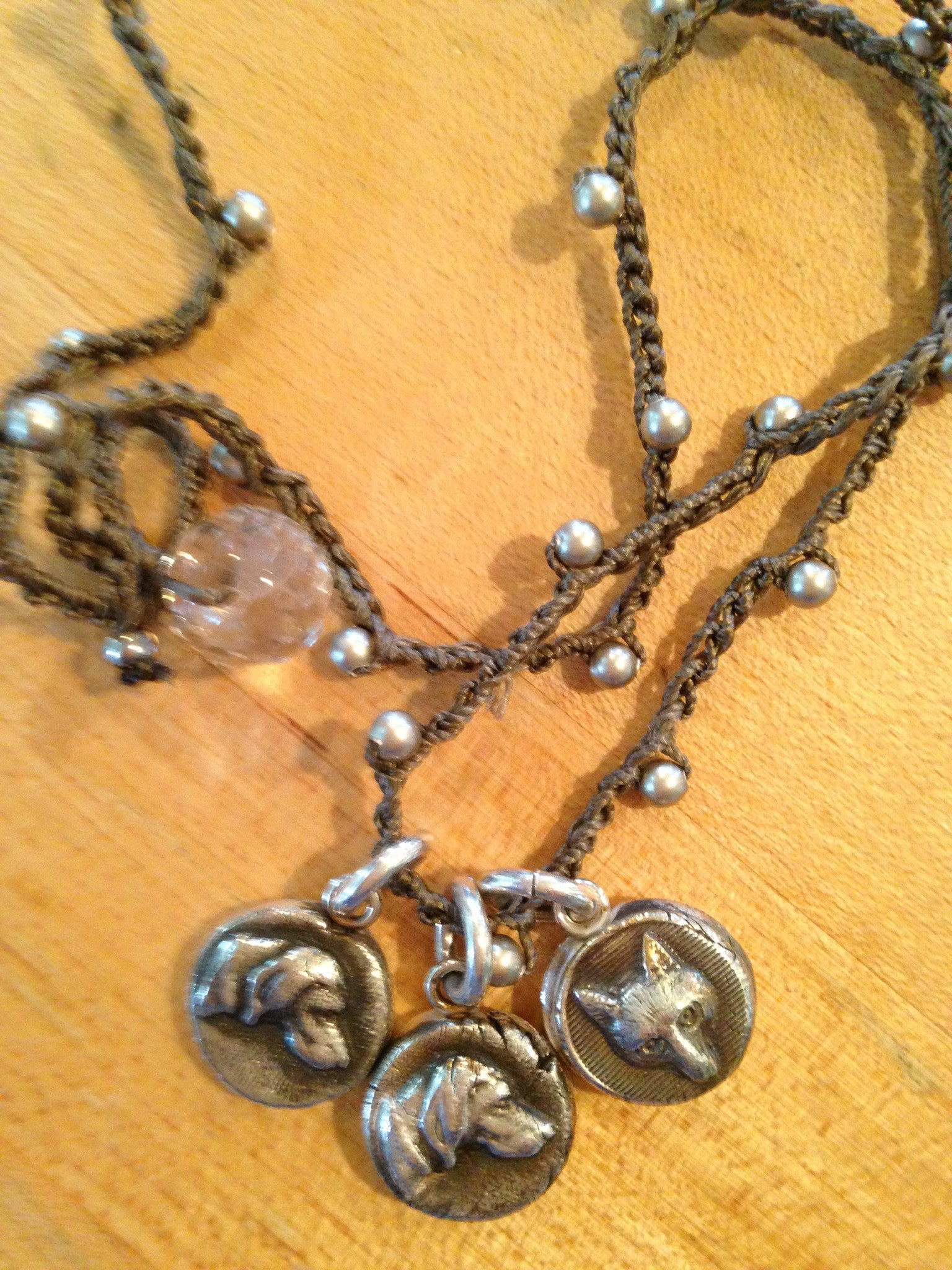 Fox and Hounds Necklace