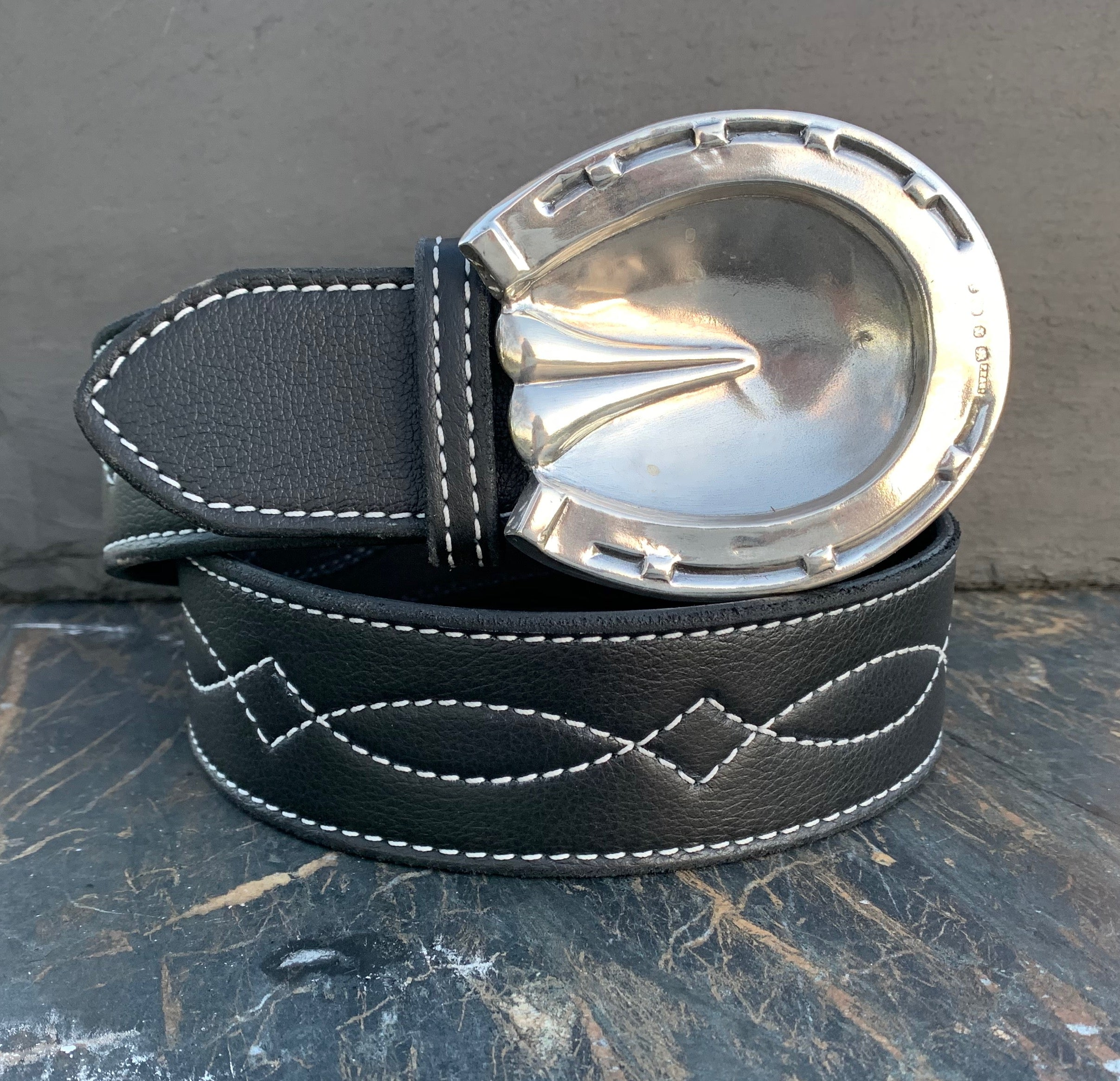 Sterling Hoofprints Buckle and Belt