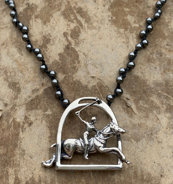 Polo Pendant on Pearls