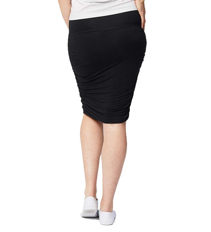 Cake Maternity Womens Ruched Fitted Skirt