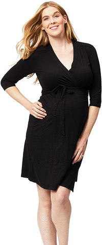 Cake Maternity Womens Long Sleeve Maternity Wrap Dress
