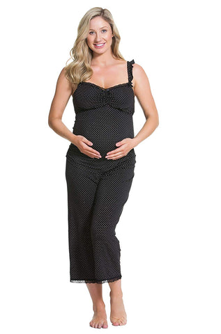 Cake Maternity Choc Vanilla Nursing and Maternity Pajama Set