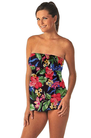 PregO Maternity strapless mini style swimsuit - Hawaiian